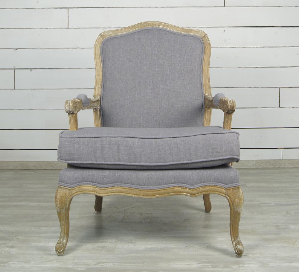 Французcкое кресло Шебби шик с подлокотниками